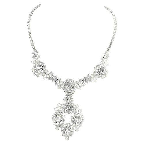 1950s Trifari Contessa Crystal Necklace