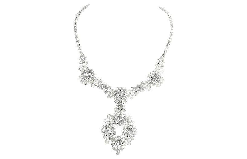 1950s Trifari Contessa Crystal Necklace