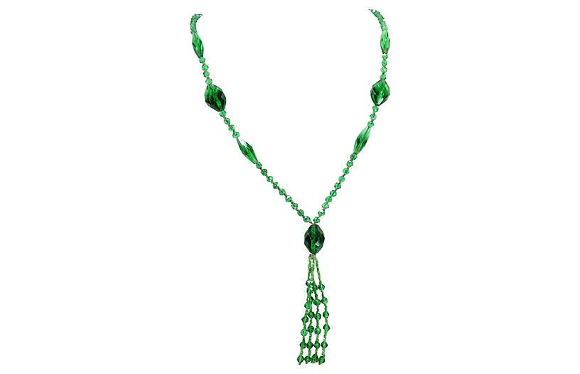 Edwardian Czech Crystal Sautoir Necklace
