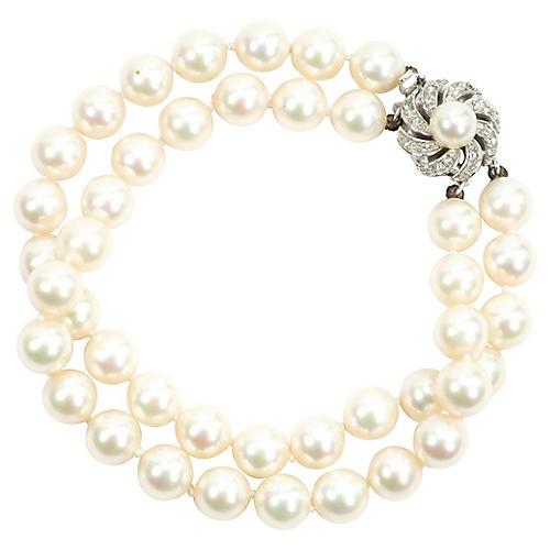 1950s Majorica Pearl Bracelet