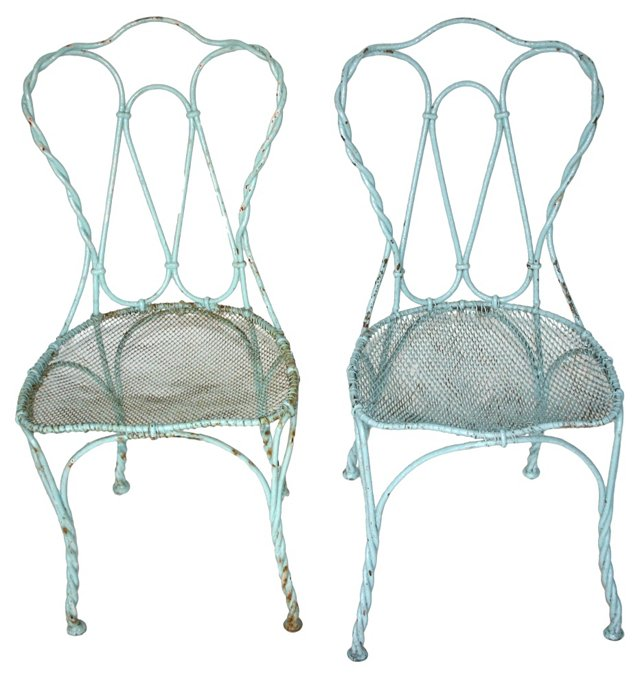 HOLD! Early-20th-C. French Chairs, Pair