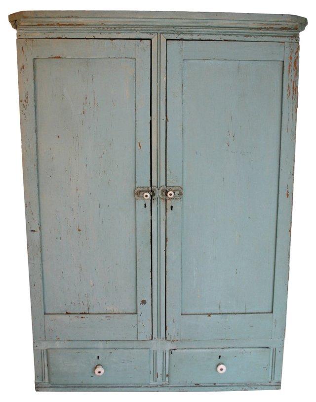 Blue Farmhouse Wall Cabinet