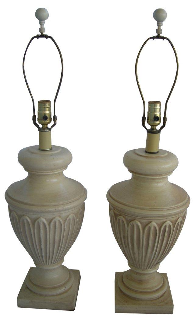 Greek Urn Lamps, Pair