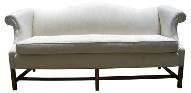 Chippendale-Style  Camelback Sofa