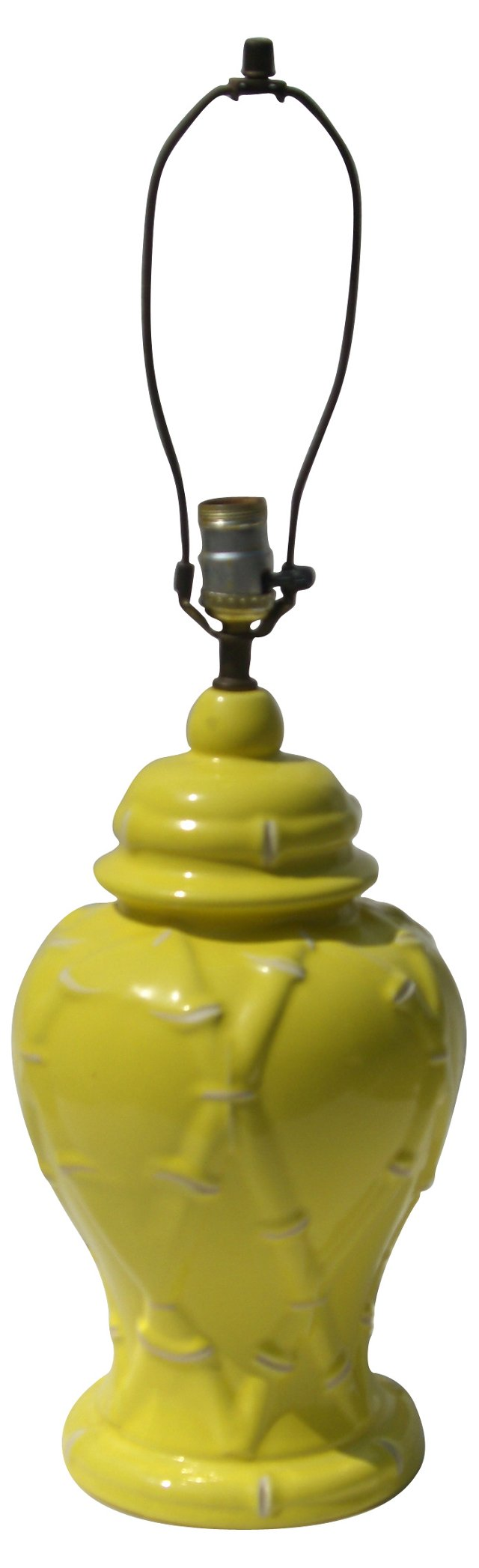 Yellow Bamboo-Style Lamp