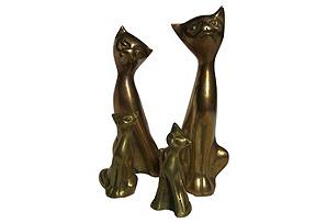 Brass Family Cats, S/4