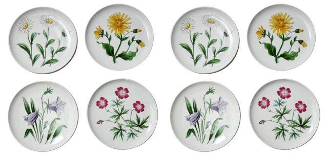 Swedish Luncheon Plates, Set of 8