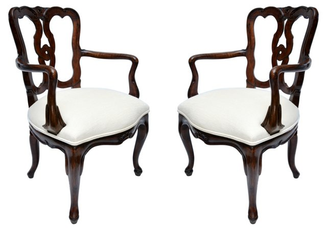 Italian   Chairs, Pair