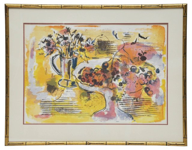 Still Life Watercolor, Signed, 1972