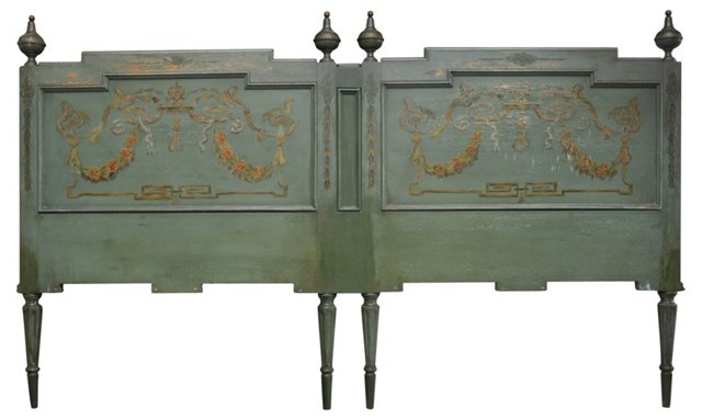 Painted French Headboard, King-Size
