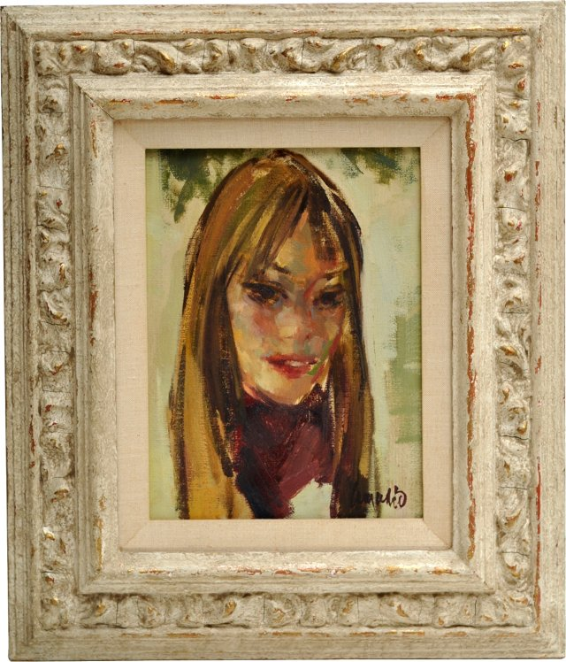 Midcentury Portrait of a French Girl