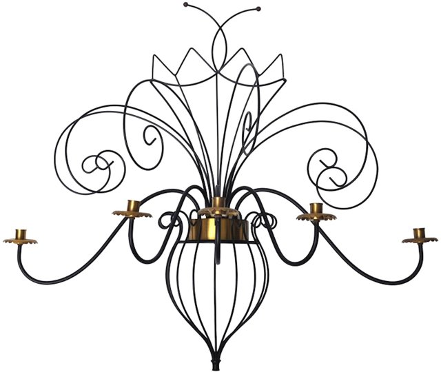 Butterfly Form 5-Light Candle Sconce