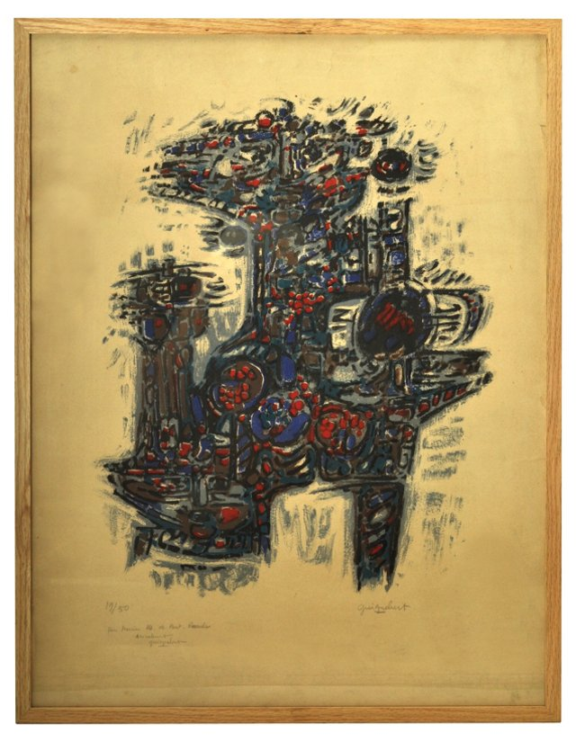 Lithograph by Jean Claude Guignebert