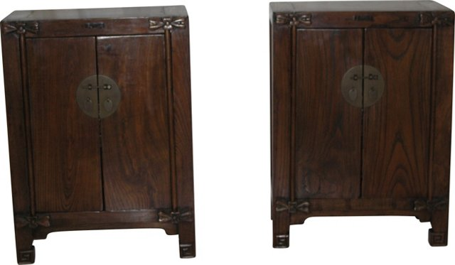 Antique Kang Cabinets, Pair