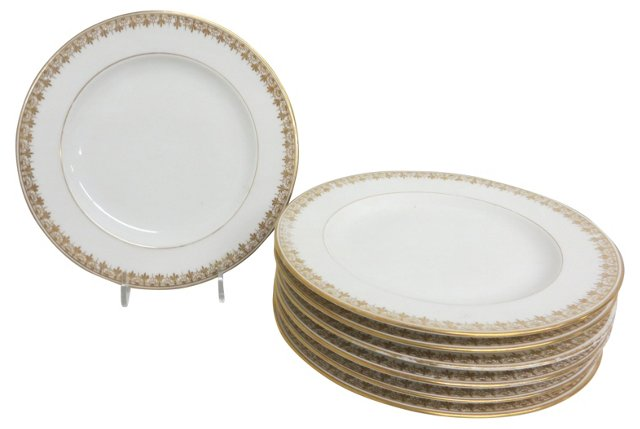 Limoges Salad Plates, S/6