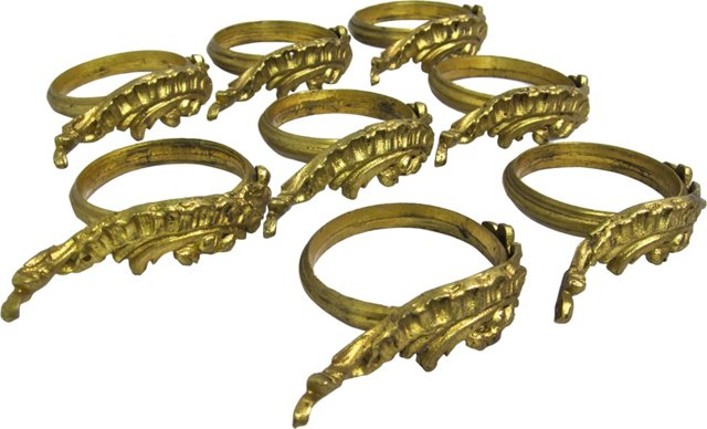 Bronze Curtain Rings, S/8