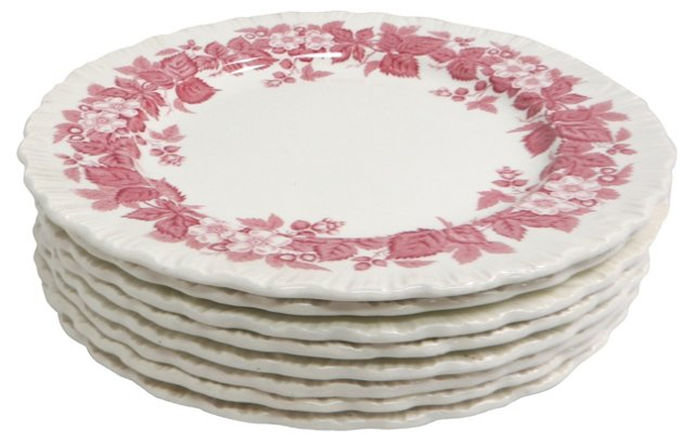 Wedgwood Luncheon Plates, S/8