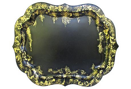 Gilded Black Tray