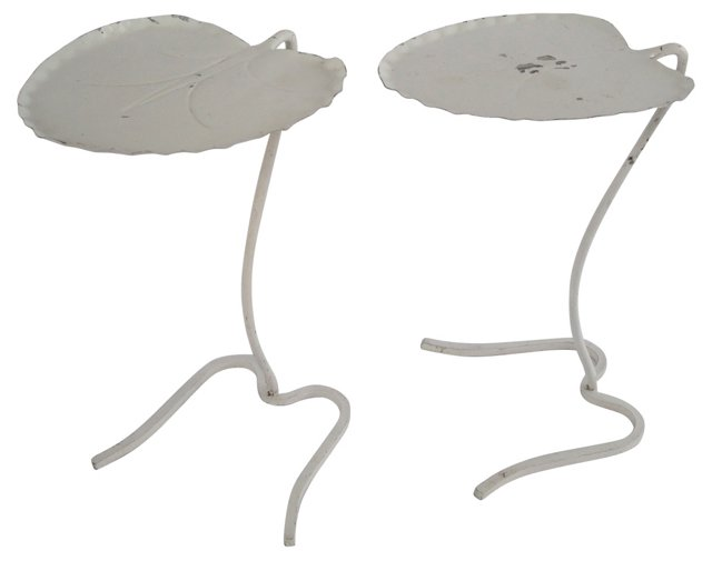 Iron Lily-Pad Tables, Pair