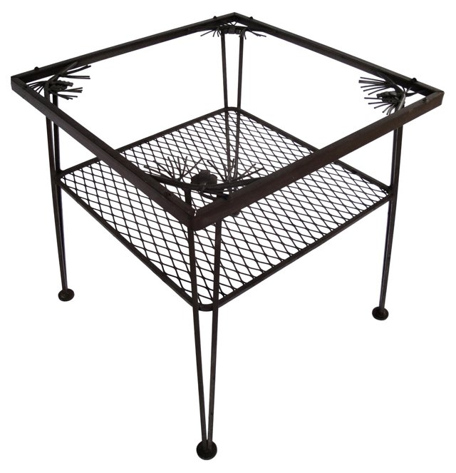 Wrought Iron Side Table by Woodard