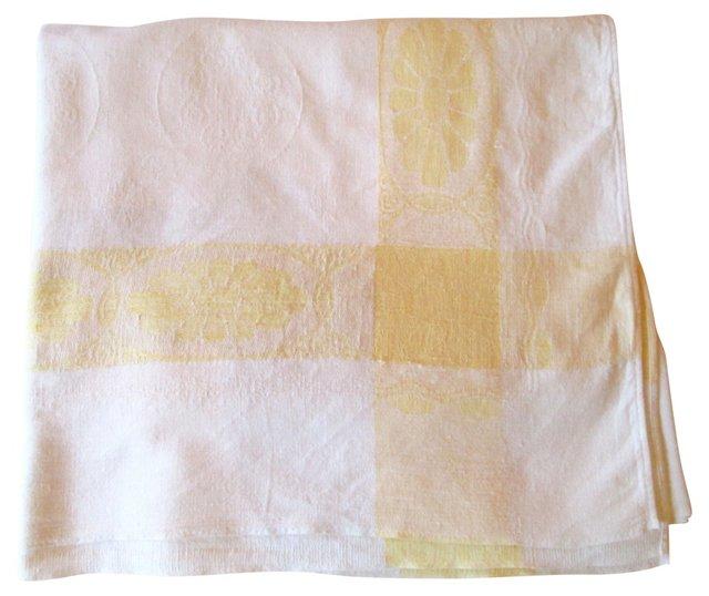 Damask Linen Tablecloth