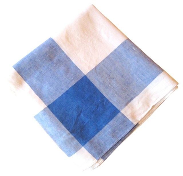 Blue Chambray Tablecloth