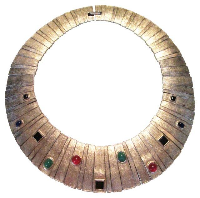 Egyptian Revival Modernist Collar