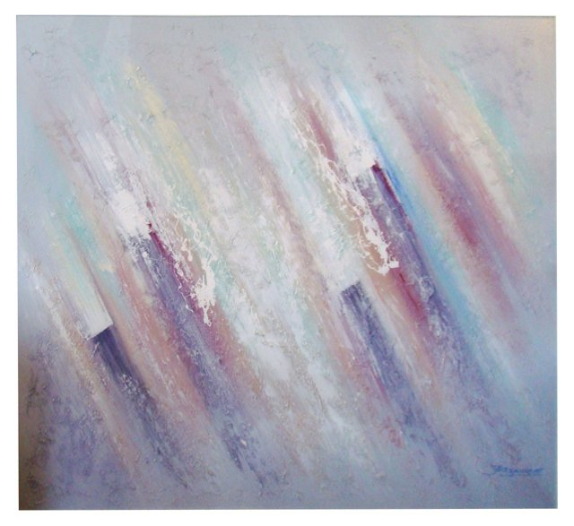 Monumental 1980s Muted Pastel Abstract
