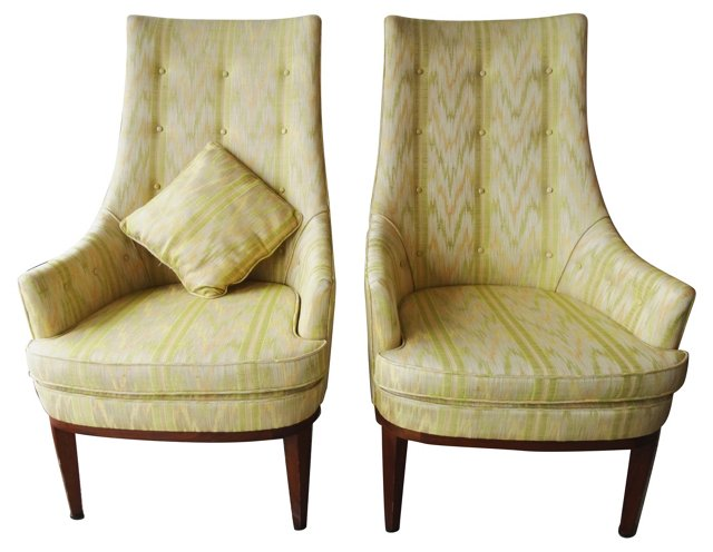 Regency Pearsall Chairs, Pair