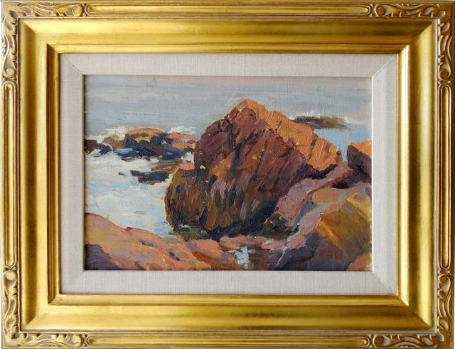 Rocky Shoreline, Mary Loring Warner