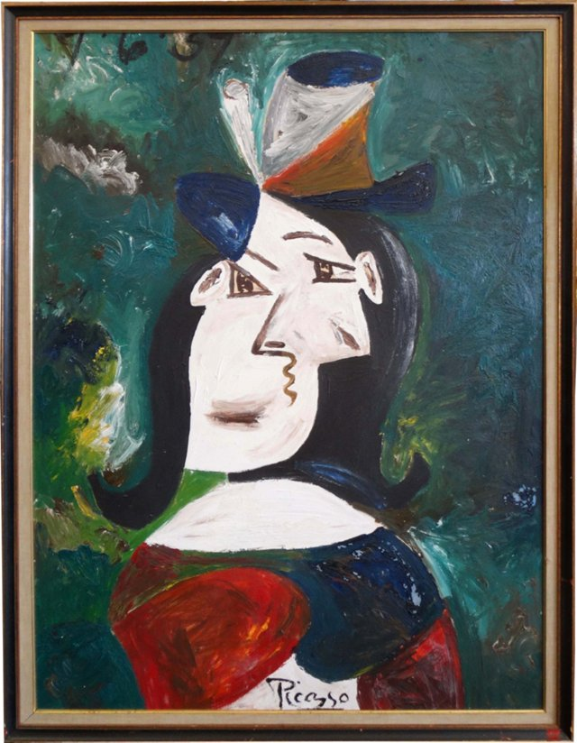 Picasso-Style Woman
