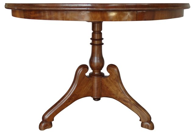 Antique French Pedestal   Table
