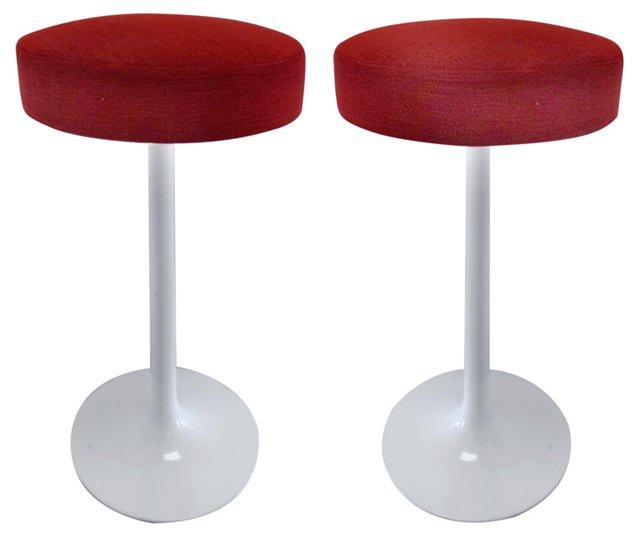 Saarinen-Style  Barstools, Pair