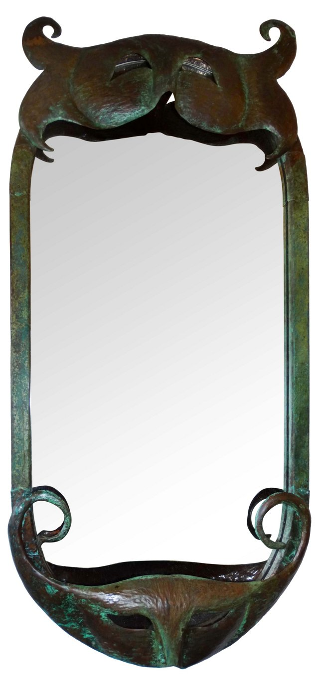 Venetian Mask Copper Mirror