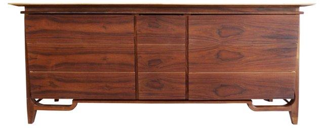 Matched-Grain Mid-Century Modern Dresser
