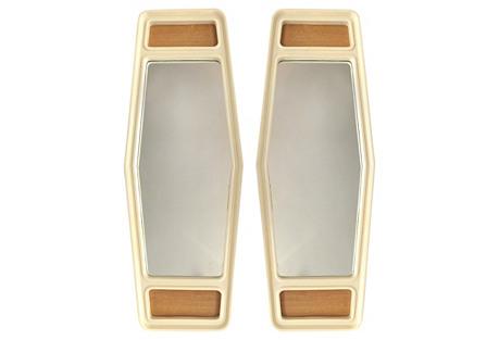 Mid-Century Modern Tapered Mirrors, Pair