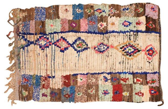 Moroccan Boucherouite Rug, 6' x 4'