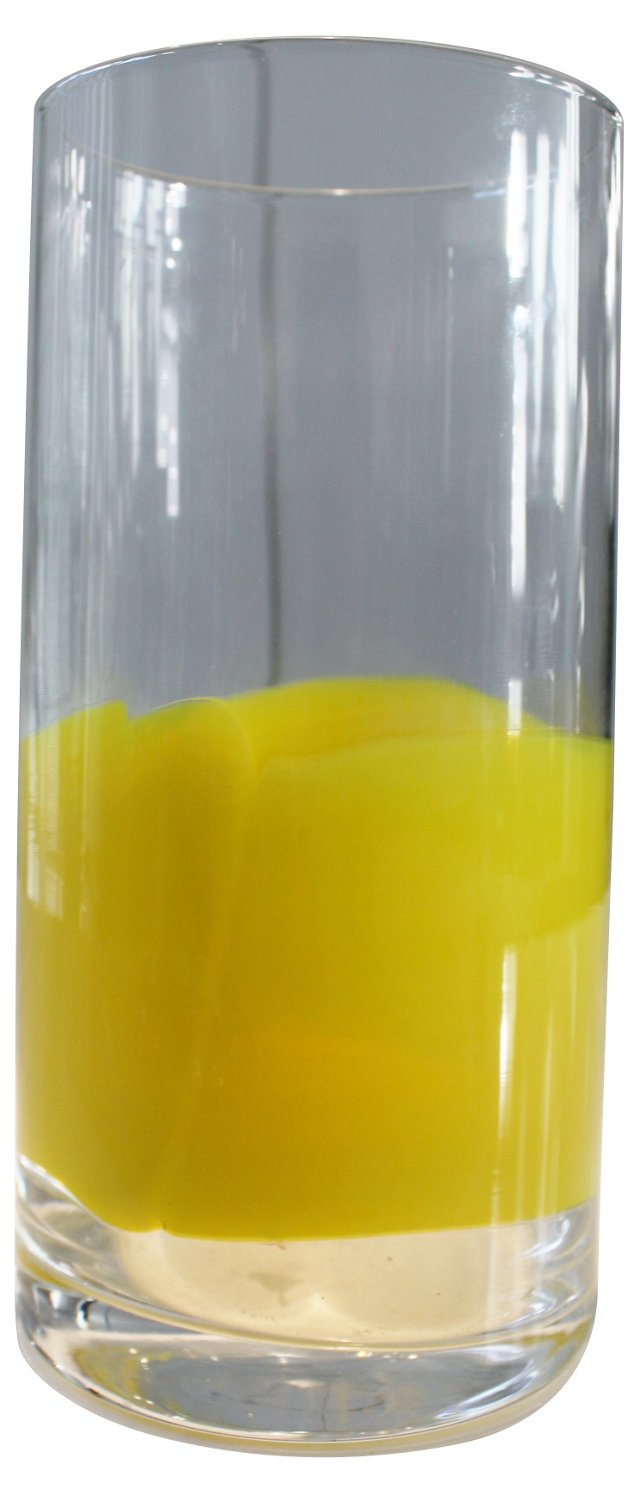 Yellow & Clear Art Vase