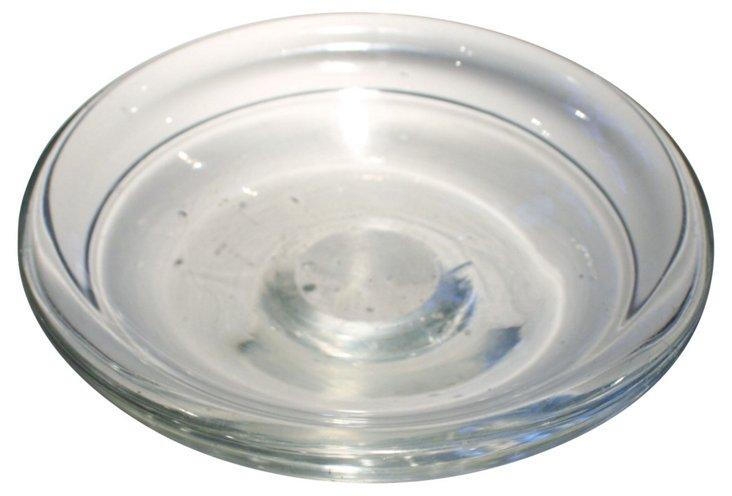 Murano Clear Asymmetrical Bowl