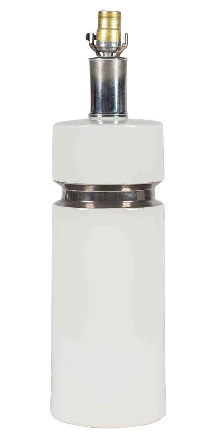 White Ceramic & Chrome Lamp