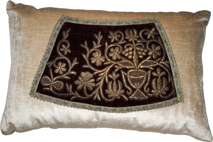 Kazan Pillow w/ Antique Embroidery