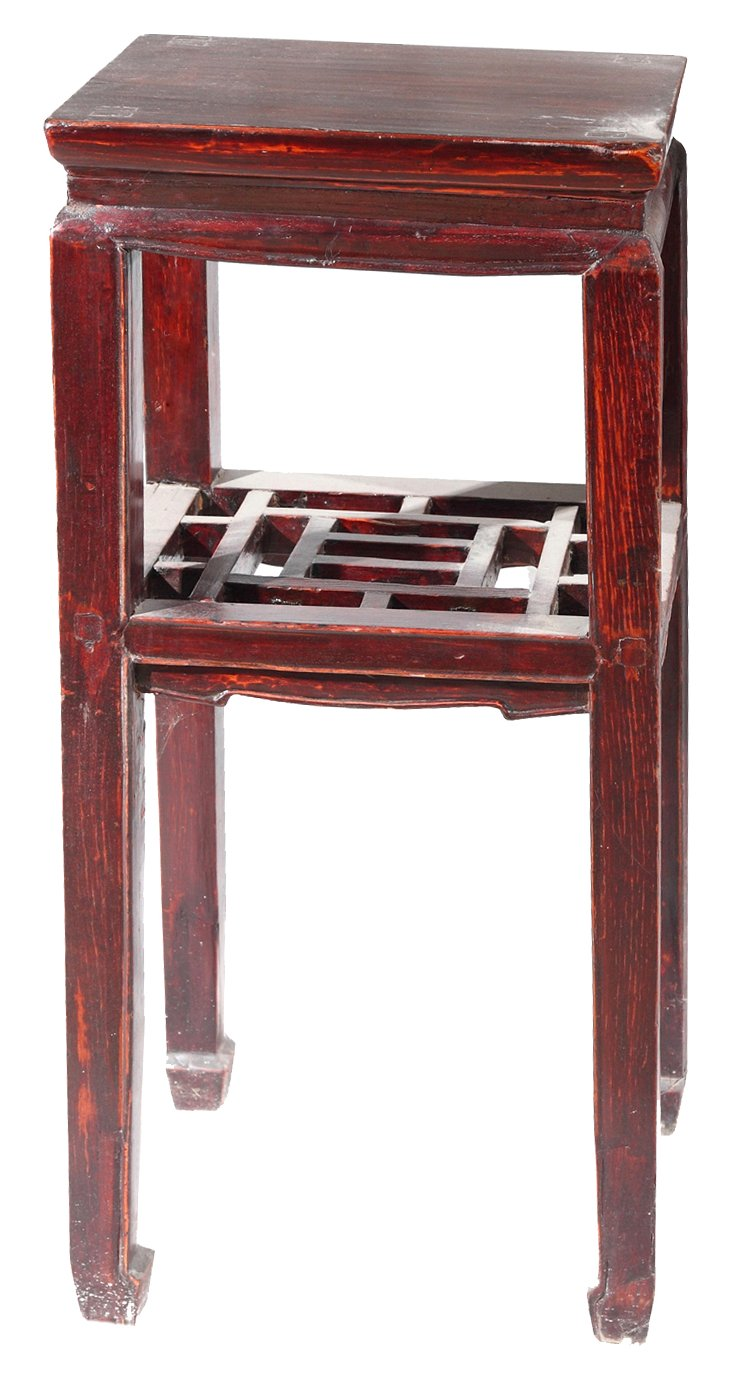 Chinese Red Side Table