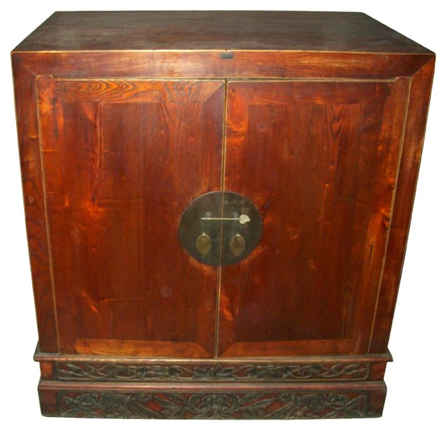 Chinese 2-Door Elm Cabinet