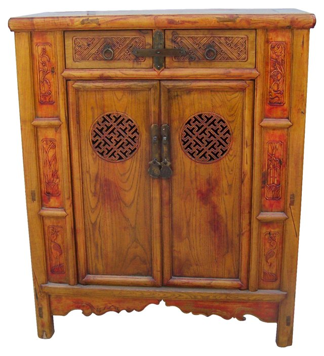 Chinese   Carved Cabinet