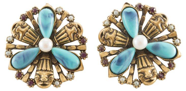 Tribal-Motif Earrings