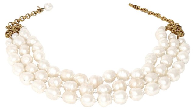 Chanel Faux-Baroque-Pearl Necklace, 1981