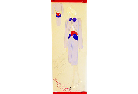 1940s Palm Beach Suit Drawing