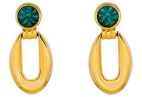 Givenchy Green & Gold Earrings