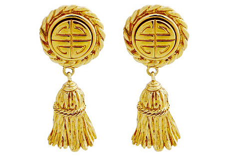 Givenchy Sculpted Tassel Earrings