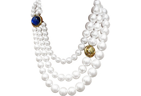 Givenchy 3-Strand Pearl Necklace